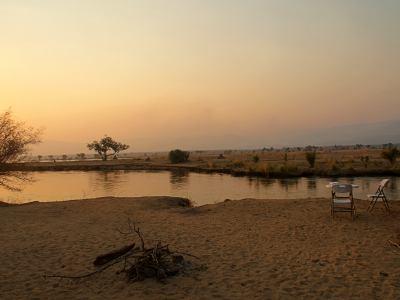 El sol duerme en el Zambeze