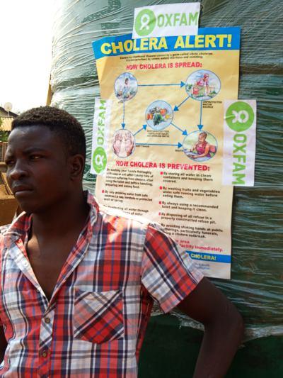 Cartel con medidas para la epidemia de cólera
