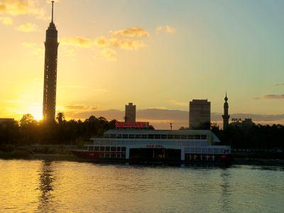El río Nilo bordea el barrio de Zamalek