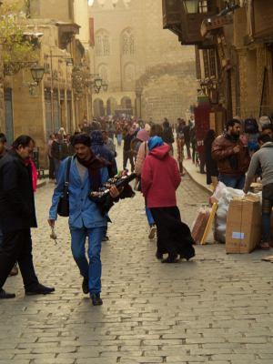 Ambiente en una calle de El Cairo