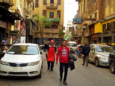 Otra calle de El Cairo