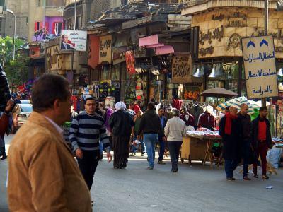 Callejas junto al bazar