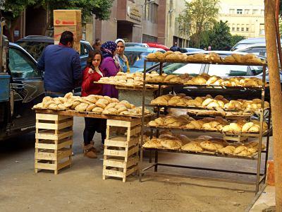 Una panadería del barrio en El Cairo