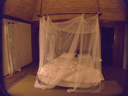 Nuestra cama en la palloza de PontAnchaca