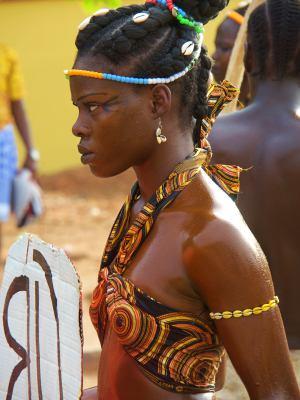 Una de las bellezas del Carnaval de Bissau