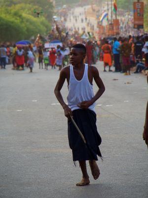 Ambiente durante el Carnaval de Bissau