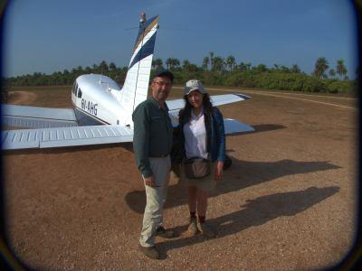 En el aerodromo de Bubaque