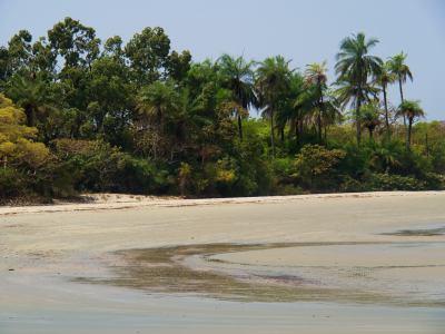Una playa de la Isla de Orango
