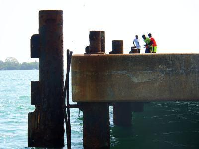 Llegando al muelle de la Isla de Bubaque