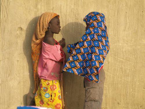 Dos niñas en Senegal