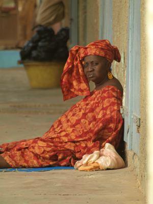 Una mujer senegalesa en Saint Louis