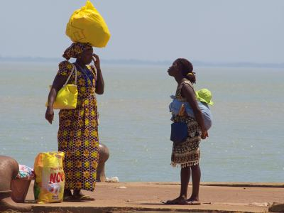 Ambiente en el puerto de Bissau