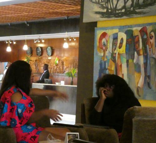 Exposición en el Hotel Seraton de Abuja