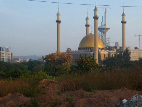 La gran mezquita de Abuja
