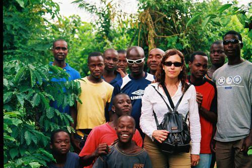 En una plantación cerca de Meadji en Costa de Marfil
