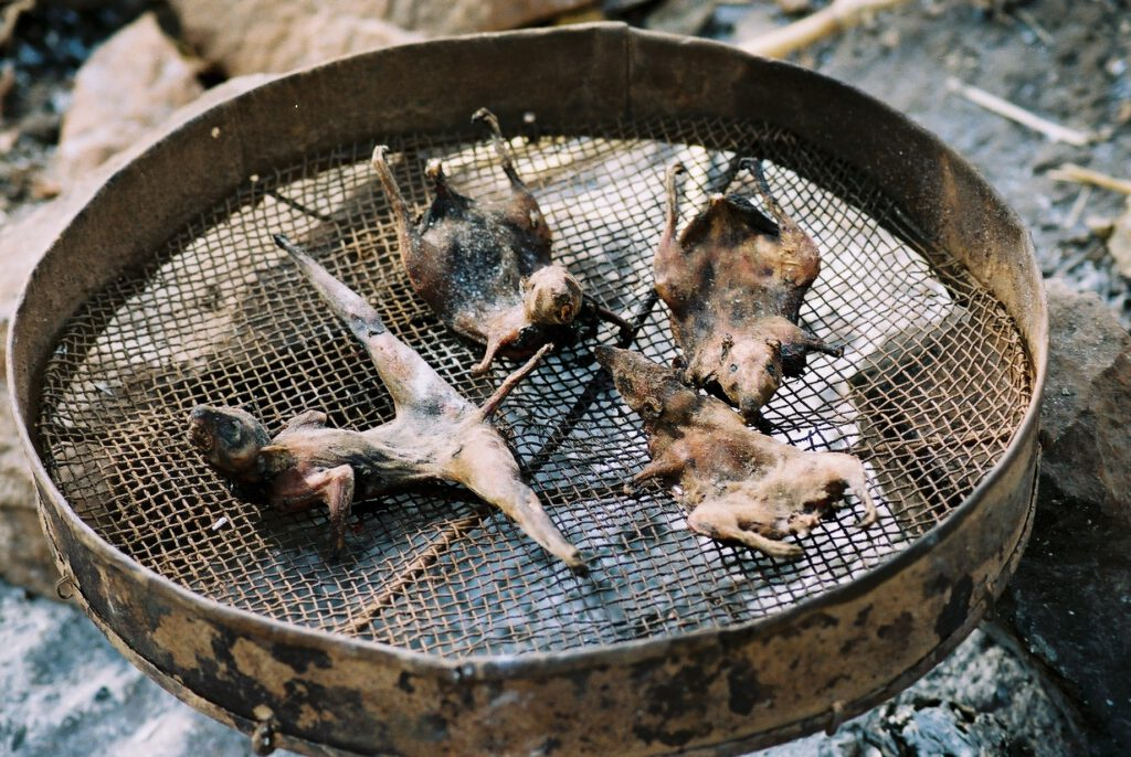 La comida de los niños explotados en las canteras de Abeokuta