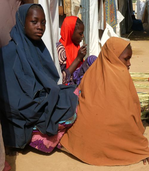 Tres mujeres musulmanas en Maiduguri