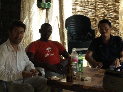 Con nuestros compañeros en Kofia en el Lago Chad
