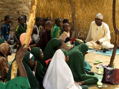 Una escuela en la Isla de Kofia en el Lago Chad