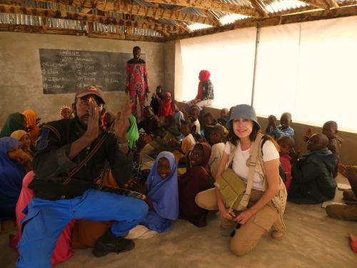 La escuela del campo de refugiados en Maiduguri