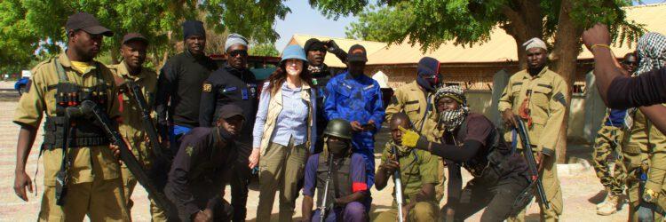 Yo con los hunters en Maiduguri