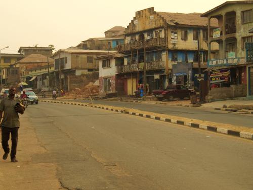 Una calle de Ibadan Nigeria