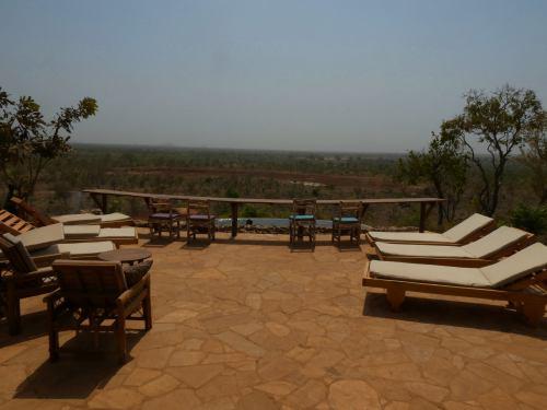 El mirador del resort de La Penjari (Benin)