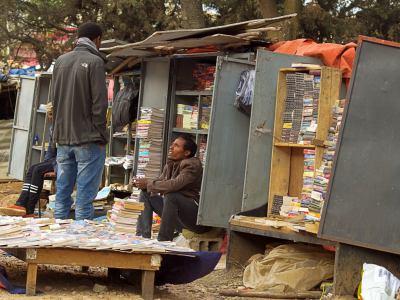Una librería callejera
