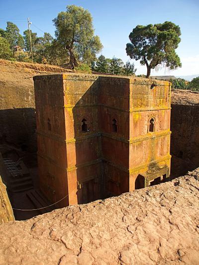 Una de las iglesias excavadas de Lalibela