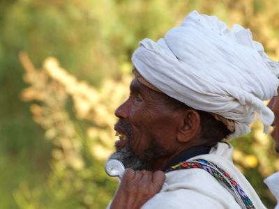 Un etiope en el camino de LaLibela