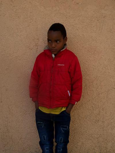 Uno de los pequeños de la misión del Aba
