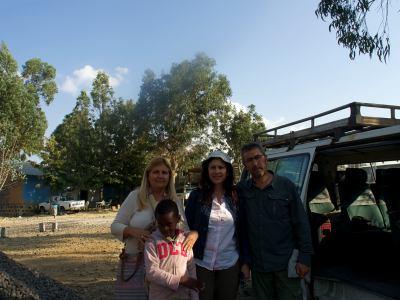 Nosotros y Ana Picazo en la misión del Aba