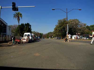 Vista general de una calle de Gweru