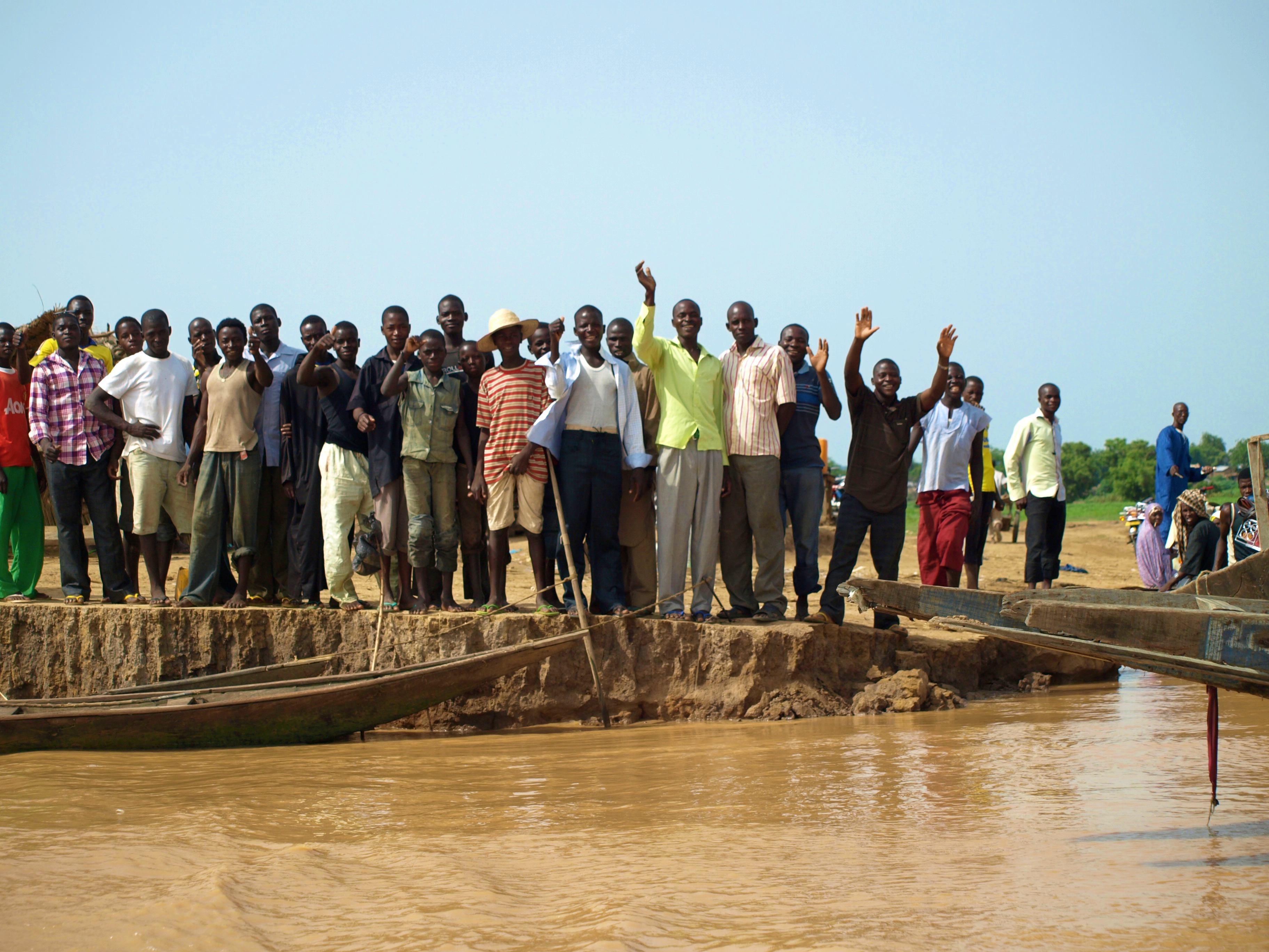 Cruzando la frontera de Benin a Nigeria