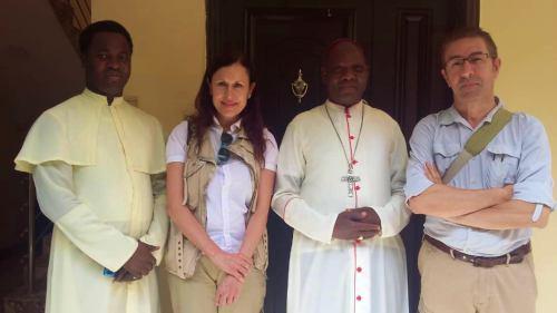 Con el obispo de Maiduguri