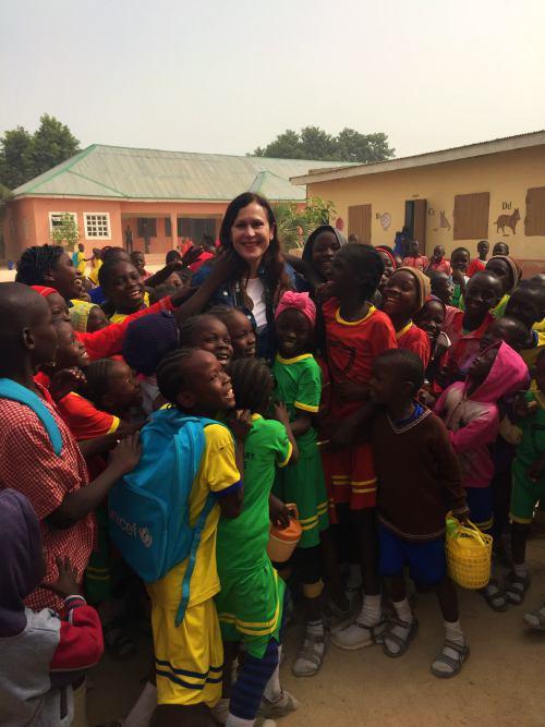 Visita al colegio de Polo en Maiduguri