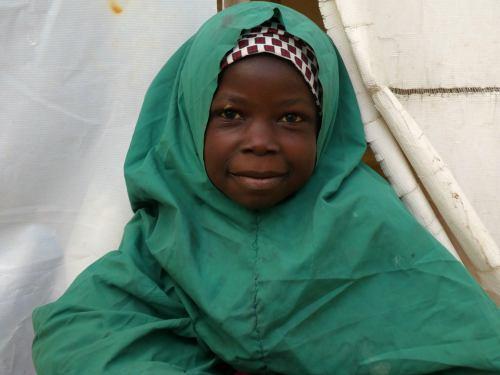 Una niña musulmana huida de Boko Haram en Maiduguri