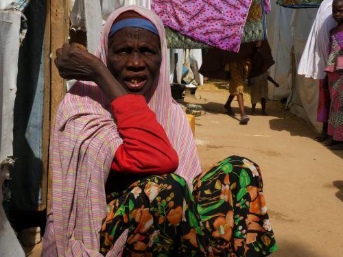 Una mujer en Maiduguri