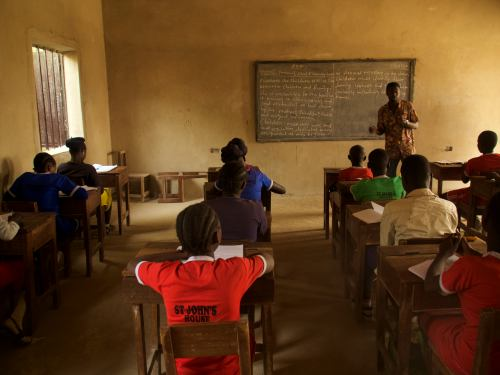 Una escuela católica en Maiduguri
