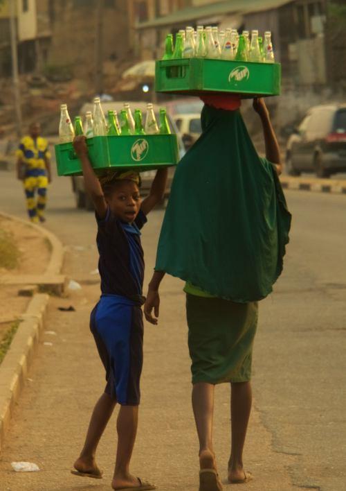 Dos vendedoras en Ibadan Nigeria