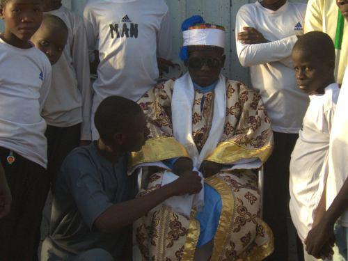 Uno de los reyes locales de Maiduguri