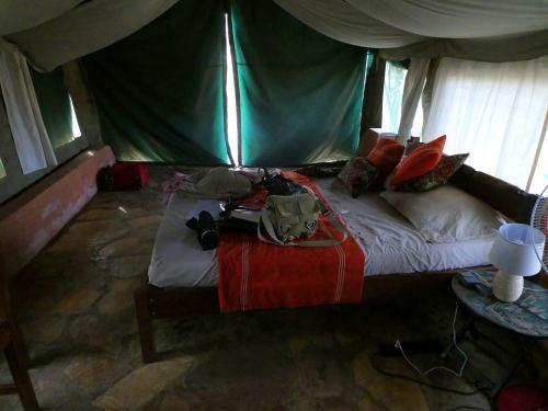 Nuestra tienda de campaña en La Penjari (Benin)