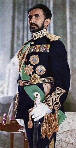 Haile Selassie emperador de Etiopia