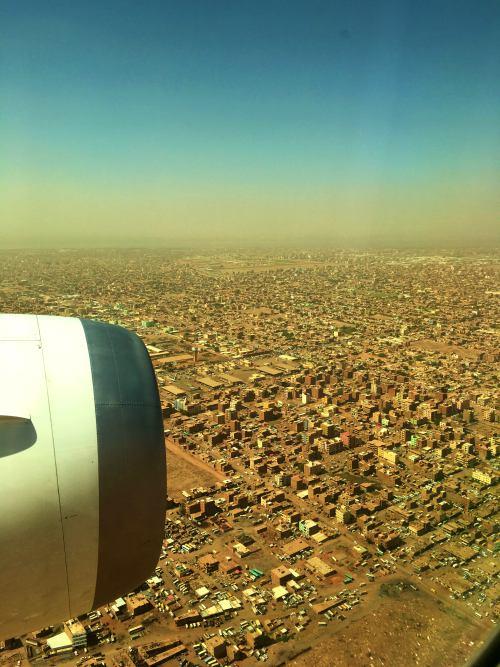 Aterrizando en Khartoum (Jartum)