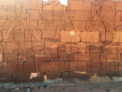 Relieves en el Templo de Apedemak en Naga (Sudán)