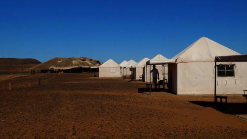 Meroe Camp en las Pirámides de Meroe (Sudán)
