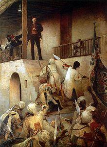 La muerte de Charles Gordon en Khartoum